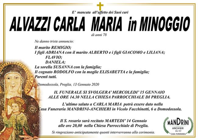 FUNEBRE ALVAZZI CARLA MARIA