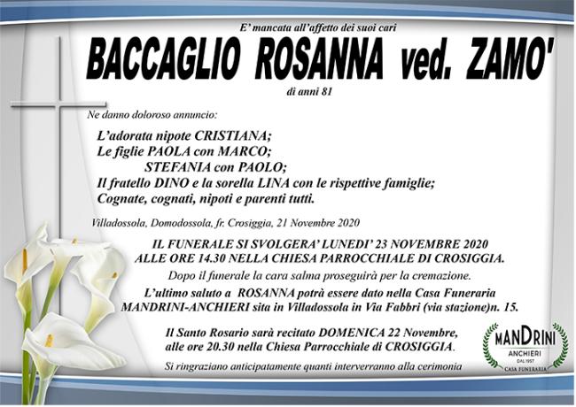 FUNEBRE BACCAGLIO ROSANNA