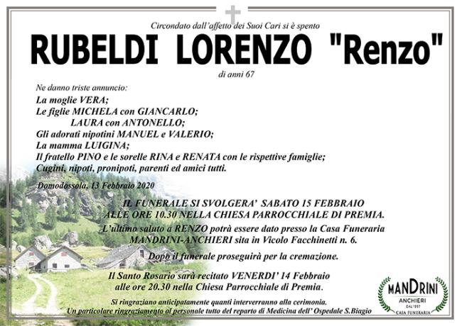 FUNEBRE RUBELDI lorenzo
