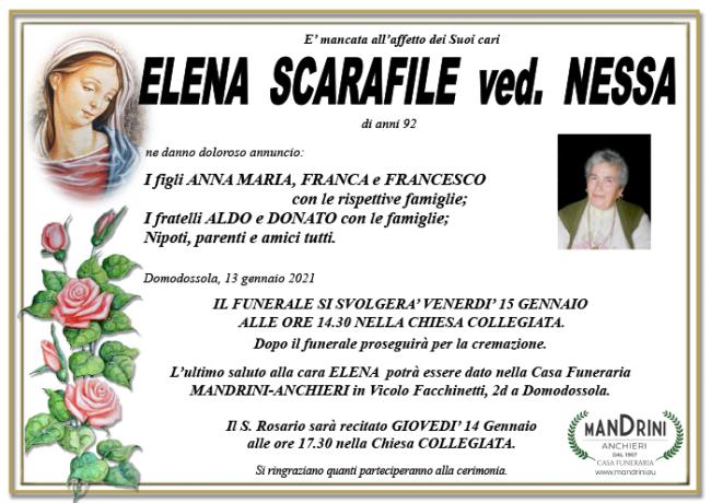 FUNEBRE SCARAFILE ELENA
