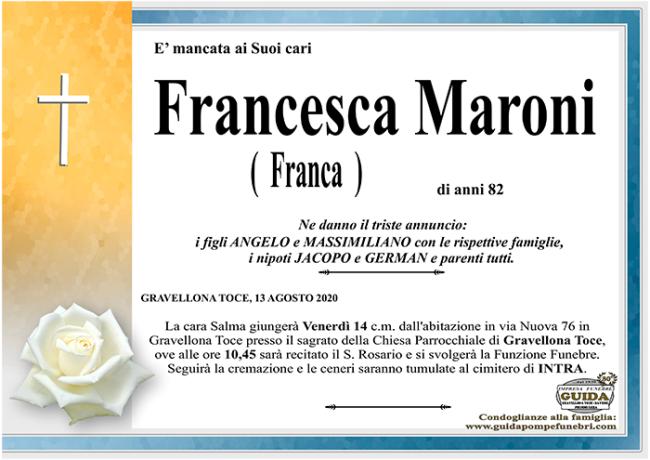 MARONI FRANCA