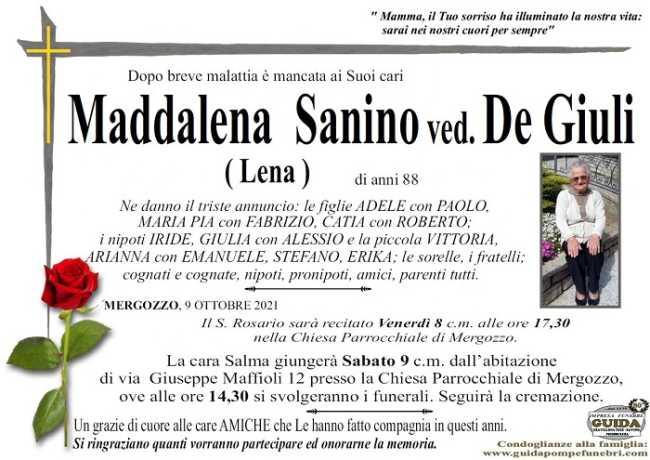 Maddalena Sanino ved. De Giuli Lena