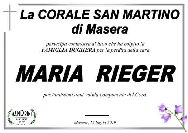 PARTECIPAZIONI CORALE SAN MARTINO PER RIEGER