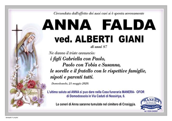 annuncio Falda Anna