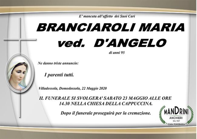 funebre BRANCIAROLI MARIA