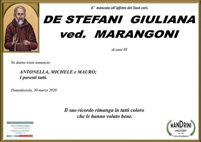 funebre DE STEFANI GIULIANA