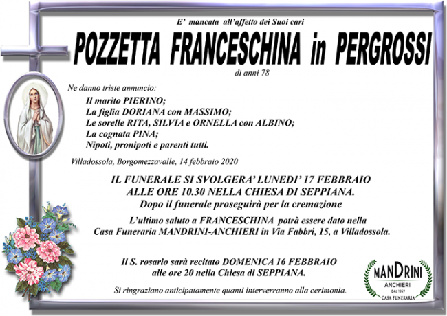 funebre pozzetta franceschina