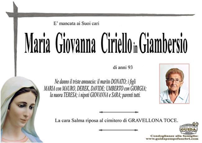 maria giovnna CIRIELLO