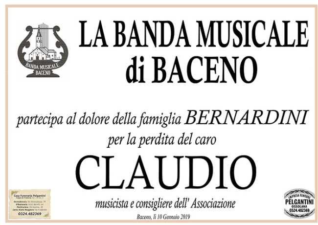 partecipazione claudio bernardini