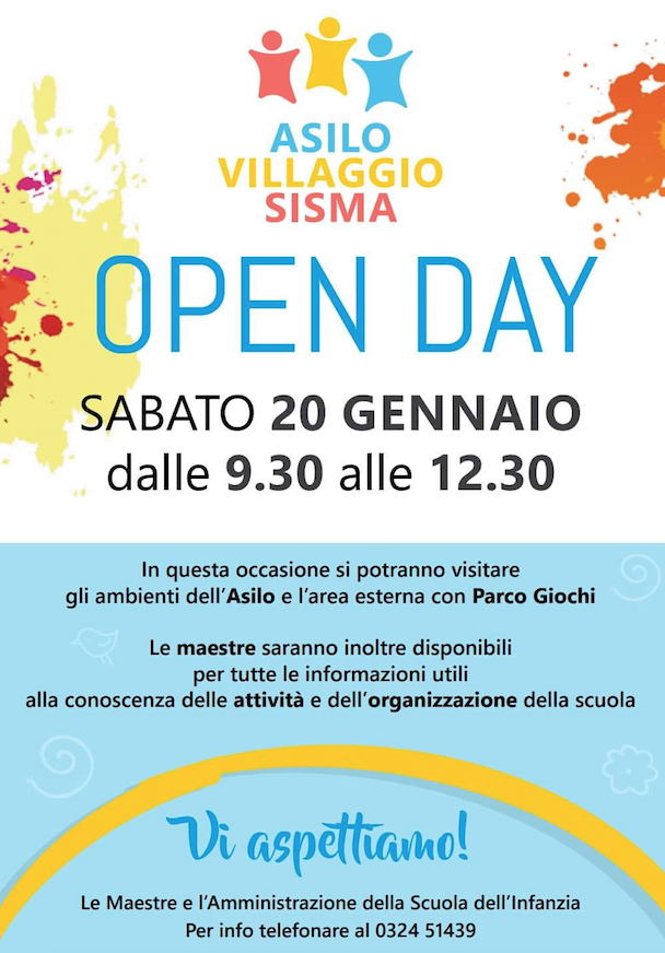 open day asilo villaggio
