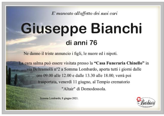 annuncio Bianchi Giuseppe