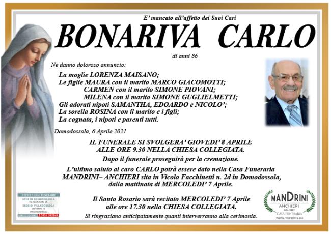 funebre BONARIVA CARLO